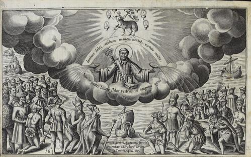 008- Grabado emblematico San Brendan en el cielo de las Americas