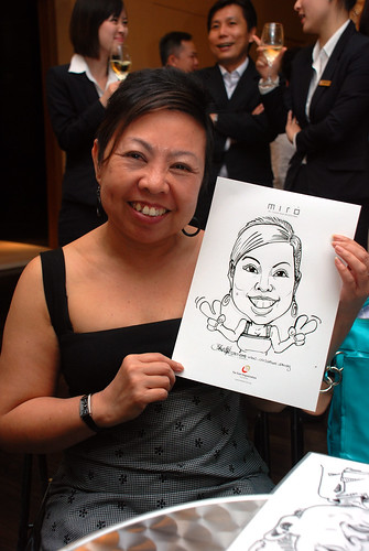 Caricature live sketching for Far East Organisation SPH Media Night The Miro 12