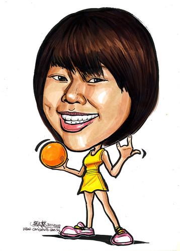 Caricature netballer