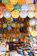 A Marrakech Market Shop (PhotoAnkrum.com) Tags: trip travel tourism markets seeing marrakech pottery leisure sight crockery marketstalls northernafrica moracco localcrafts 5photosaday photoankrum deniseankrum