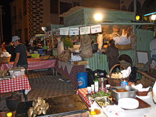 San Andrés food stall