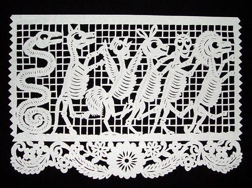 Día de los Muertos - Dancing Skeleton Animals