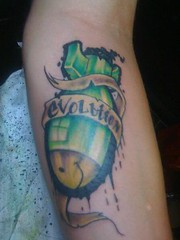Evolution Tattoo by Jon Poulson (Aloha Salt Lake Tattoos) Tags: lake tattoo jon salt bomb poulson evolustion