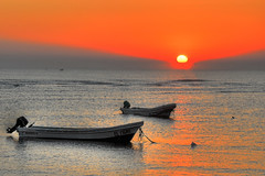 Rise and shine! (Sergio Lubezky) Tags: sea sunrise mexico boats veracruz sergiolubezky platinumheartaward