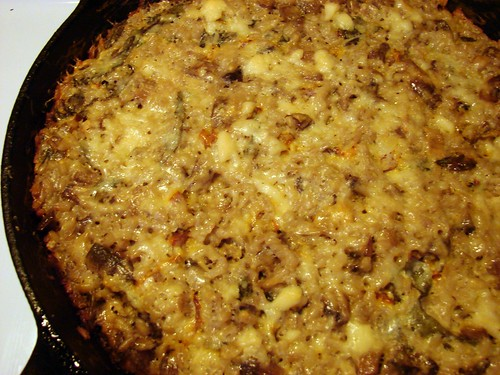 cheesy mushroom+chard casserole