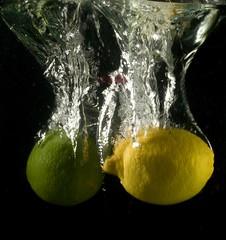 Not exactly Sprite material Yet! (Juan herrera Photography) Tags: black macro wet water canon lemon lime splash