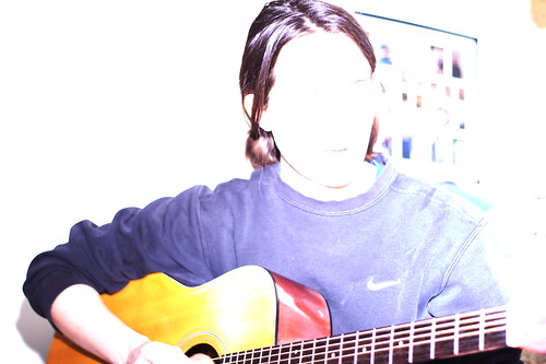 Alex - flash test with guitar - 3