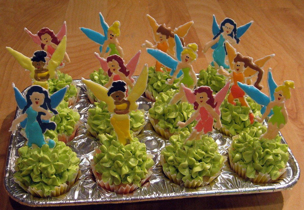 Tinkerbell and Fairy Friends Cupcakes