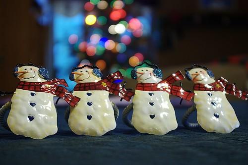 Happy Snowmen Bokeh