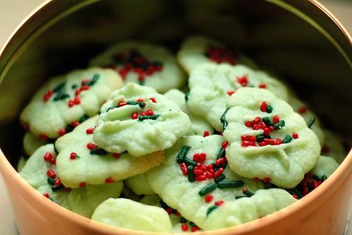 Spritz cookies.