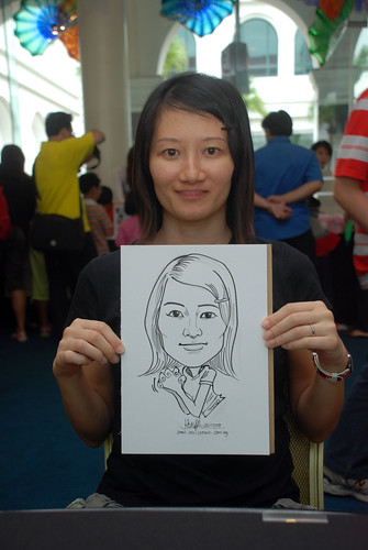 Caricature live sketching at Singapore Art Museum Christmas Open House - 6