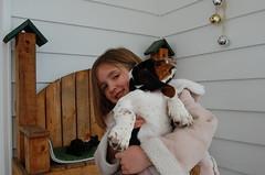 Kiera holds Roscoe
