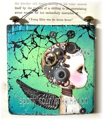 *DaYDReaMs* (sPaRK*YouR*iMaGiNaTioN) Tags: street wood original art collage metal painting paper wings punk paint outsider assemblage mixedmedia magic watch spray pixie fairy fantasy gears fairyland alteredart steampunk effa zne