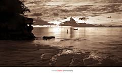 Sunrise #1 (justpedalhard) Tags: sea canada calgary sunrise philippines alberta whitesand sepiatone lightroom ef1740mmf4l canonllens canonrebelxti400d shangrilamactancebu adobelightroomlr michaelilogatoc tropicalwater