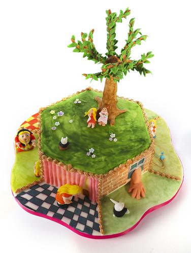 Alice-in-Wonderland Cake
