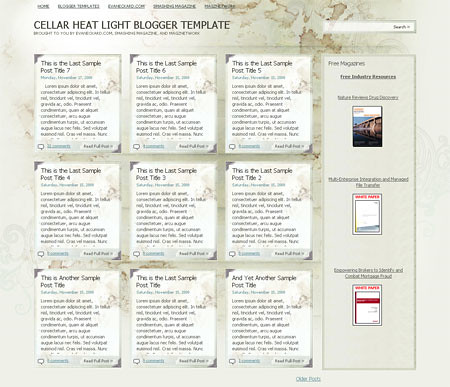 Cellar Heat Light Blogger Template