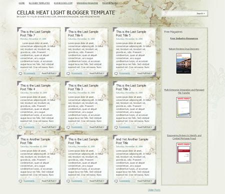 Cellar Heat Light Blogger Template
