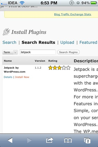 Install Jetpack in WordPress