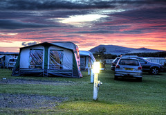 'Spectacular Sunset At Shell Bay' (Elie,Scotland) (Mr Andy Bird) Tags: park sunset sea clouds photoshop canon spectacular eos evening bay scotland seaside skies cloudy fife dusk awesome shell tent east coastal stunning colourful caravan epic hdr beautful elie topaz adjust cs4 neuk campng 1000d