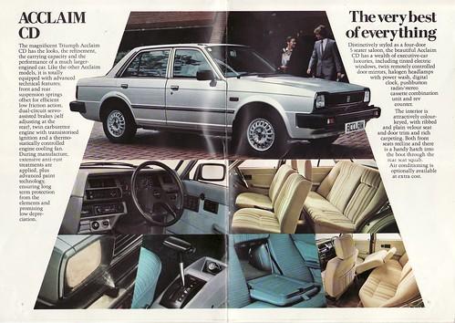 1984 - Triumph Acclaim HLS