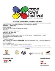 Cape Town Festival Lecture Series Invite