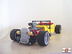Hot Rod II 2008 (Biczzz) Tags: car lego hotrod v8 lugnuts moc forum0937 comunidade0937