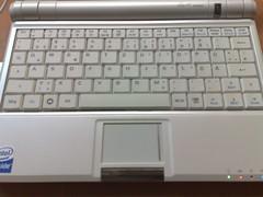 Asus eeePC - Tastatur und Touchpad