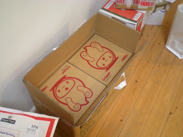 Initial shipment of Droplets by JamFactory