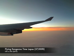 Flying Kangaroo Time Lapse (#137) (Christopher Chan) Tags: clouds plane timelapse video time qantas lapse logitech quickcam
