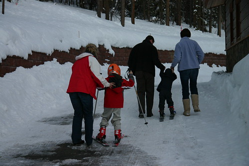 First ski lessons