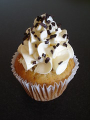 Banana Cupcake with swirly caramel buttercream (Crafty Confections) Tags: banana caramel cupcake buttercream
