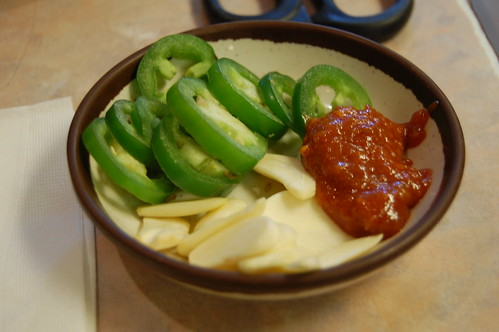 Raw Chilies and Garlic and Bean Paste