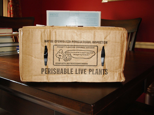 Perishable Live Plants - In the Mail!
