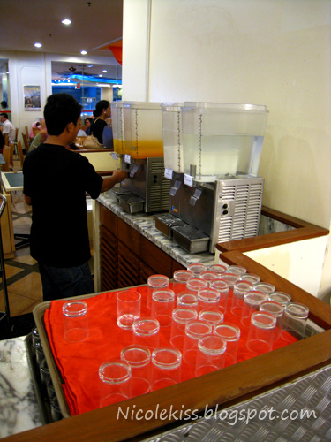 orange juice section