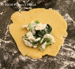 Spinach Ravioli: Getting Ready to Fold