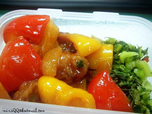 彩椒酸甜雞
