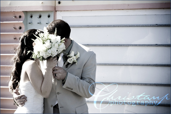 ChristanP Photography - Luders Wedding - First Kiss