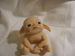 Baby cobnut the moongazer. (Pixie_Patch) Tags: sculpture baby art gnome doll dwarf pixie elf fairy goblin artdoll creature fae