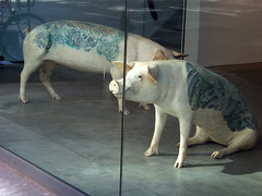 Museum of Swine Art (jglsongs) Tags: nyc newyorkcity ny newyork art window pig artwork chelsea gallery artgallery manhattan galleries pigs gothamist w23rdst  west23rdstreet              thnhphnewyork      newyorkstadt