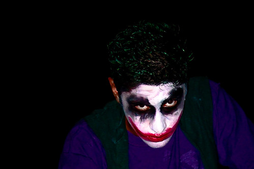 The Joker at a midnight showing of The Dark Knight