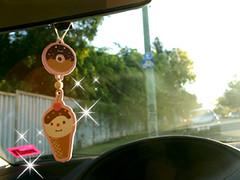 decole vanilla air freshener (Peachypan) Tags: cute car smiling japan japanese icecream donut kawaii vanilla import happyface scent airfreshener decole peachypan decolello