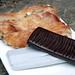 Rajola de xocolata i coca ensucrada dels Hostalets d'en Bas