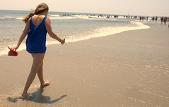 Walking on the beach (Rocco Peditto) Tags: ocean summer beach water girl sand warm alone shore teenager roccopeditto