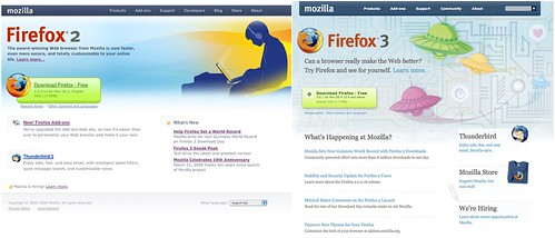 Mozilla.com: Old & New