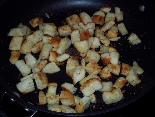 homemade croutons