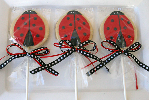 Ladybug Cookies (on a stick)