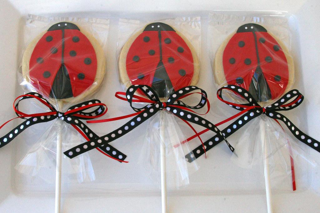 Ladybug Cookies (on a stick)