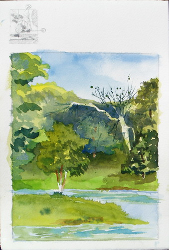 Watercolor Sketch - Wild Acres Park