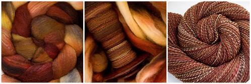 Form fiber to yarn:  All Spun Up merino/silk in Kunia