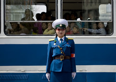 Traffic officer Pyongyang (Eric Lafforgue) Tags: pictures travel soldier army photo war asia traffic military picture police korea kimjongil cop asie coree flic journalist militaire soldat journalists northkorea armee nk pyongyang  dprk  coreadelnorte juche kimilsung nordkorea 6142 lafforgue   officier ericlafforgue   coredunord coreadelnord  northcorea coreedunord rdpc  insidenorthkorea  rpdc   demokratischevolksrepublik coriadonorte  kimjongun coreiadonorte
